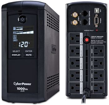 CyberPower CP1000AVRLCD: Advanced UPS battery backup power with automatic voltage regulation and LCD status