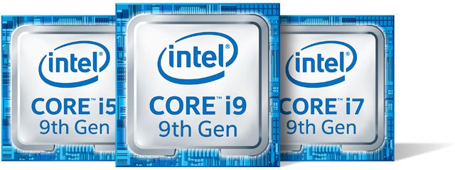 9th Generation Intel Core i5 / i7 / i9 Processors
