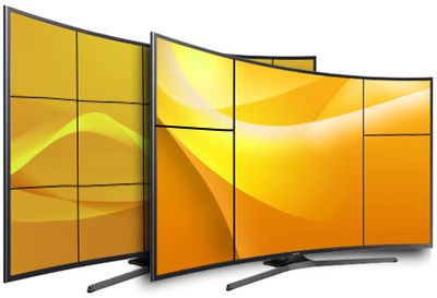 UltraView 49C and 55C 4K UHD curved displays