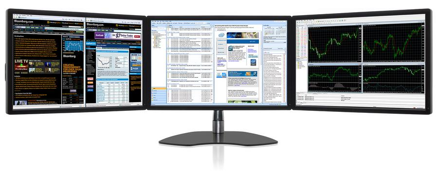 Ultraflex Trio Elite Triple Screen Professional Display