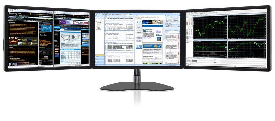 Ultraflex Trio Elite Triple Screen Professional Display
