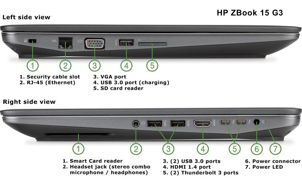 Hp Zbook 15 G3 Mobile Workstation  Nvidia Quadro Graphics