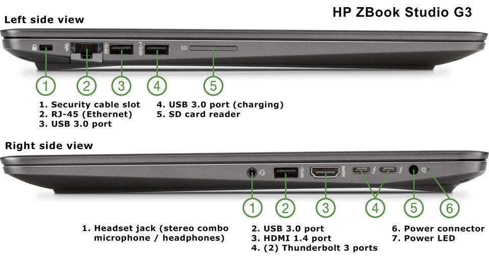 Hp Zbook Studio G3 Ultralight Mobile Workstation  Ips